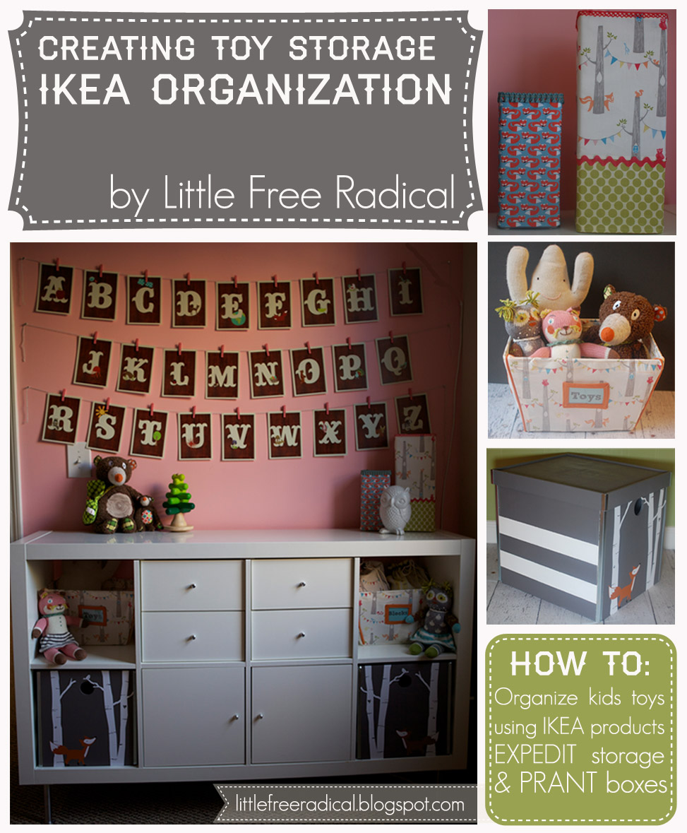 little free radical creating toy storage with ikea