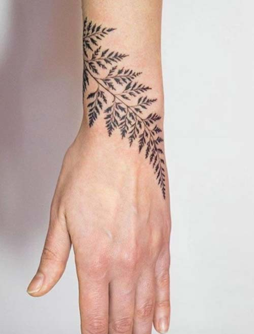 yaprak bilek dövmeleri bayan leafwrist tattoos for women