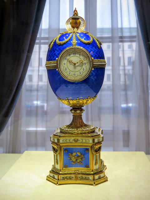 Imperial Egg at the Faberge Museum in St. Petersburg, Russia