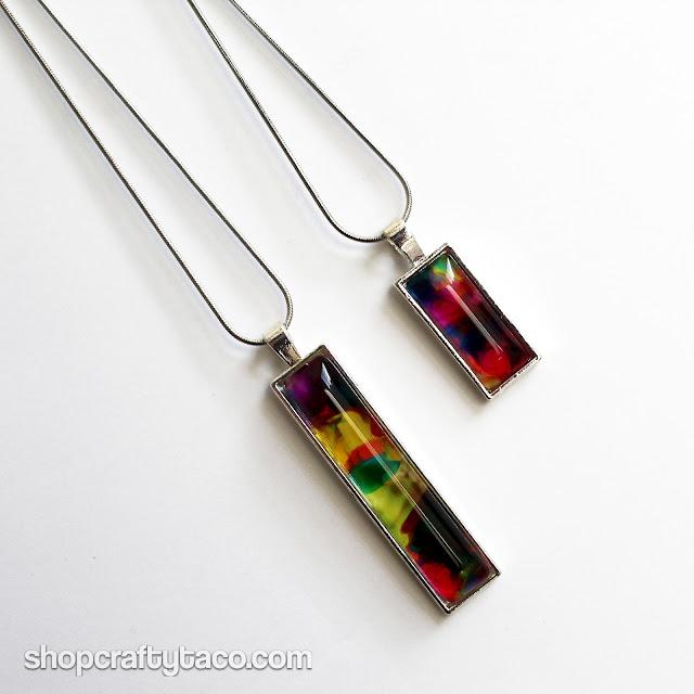 The Crafty Taco Rainbow Reader Pendants