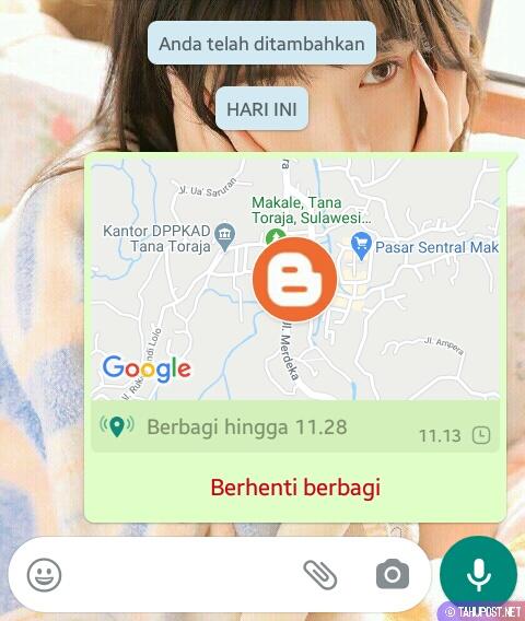 Kirim atau Share Lokasi Palsu di WA (WhatsApp)