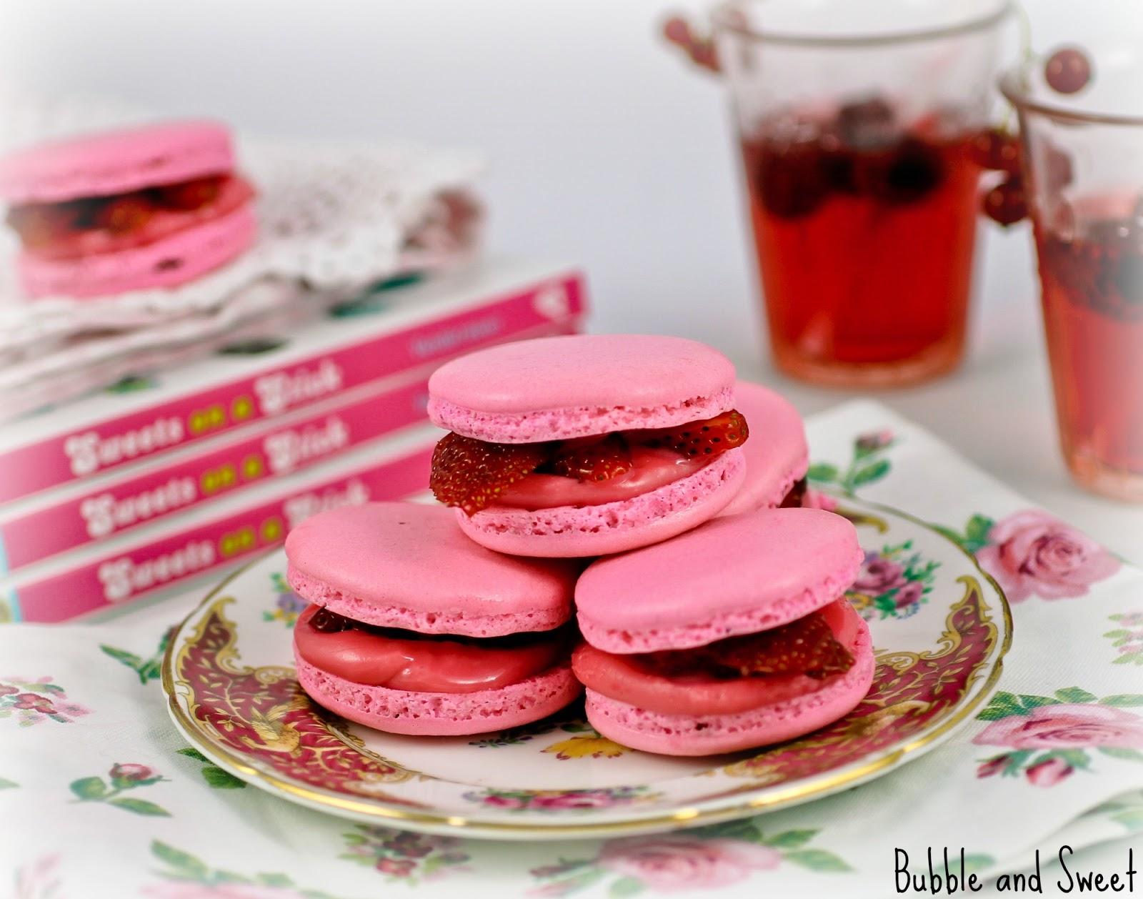 pink peach macarons rose - photo #48