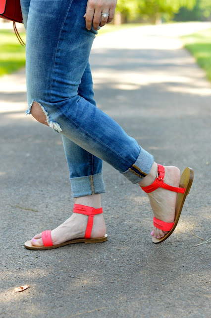 red-flat-ankle-sandals
