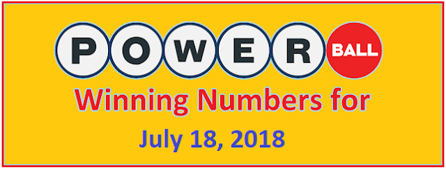 PowerBall Winning Numbers for Wednesday, 18 July 2018