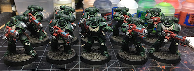 Dark Angels Hellblasters WIP final highlights