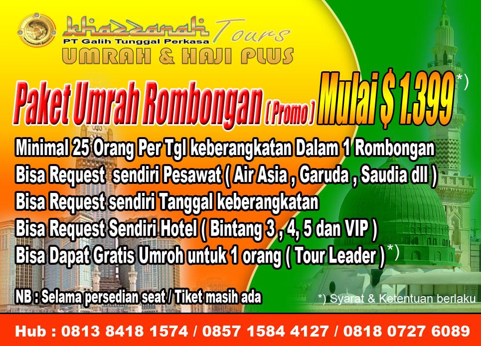 Umrah rombongan Khazzanah tour