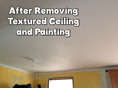 After removing textured ceiling and painting