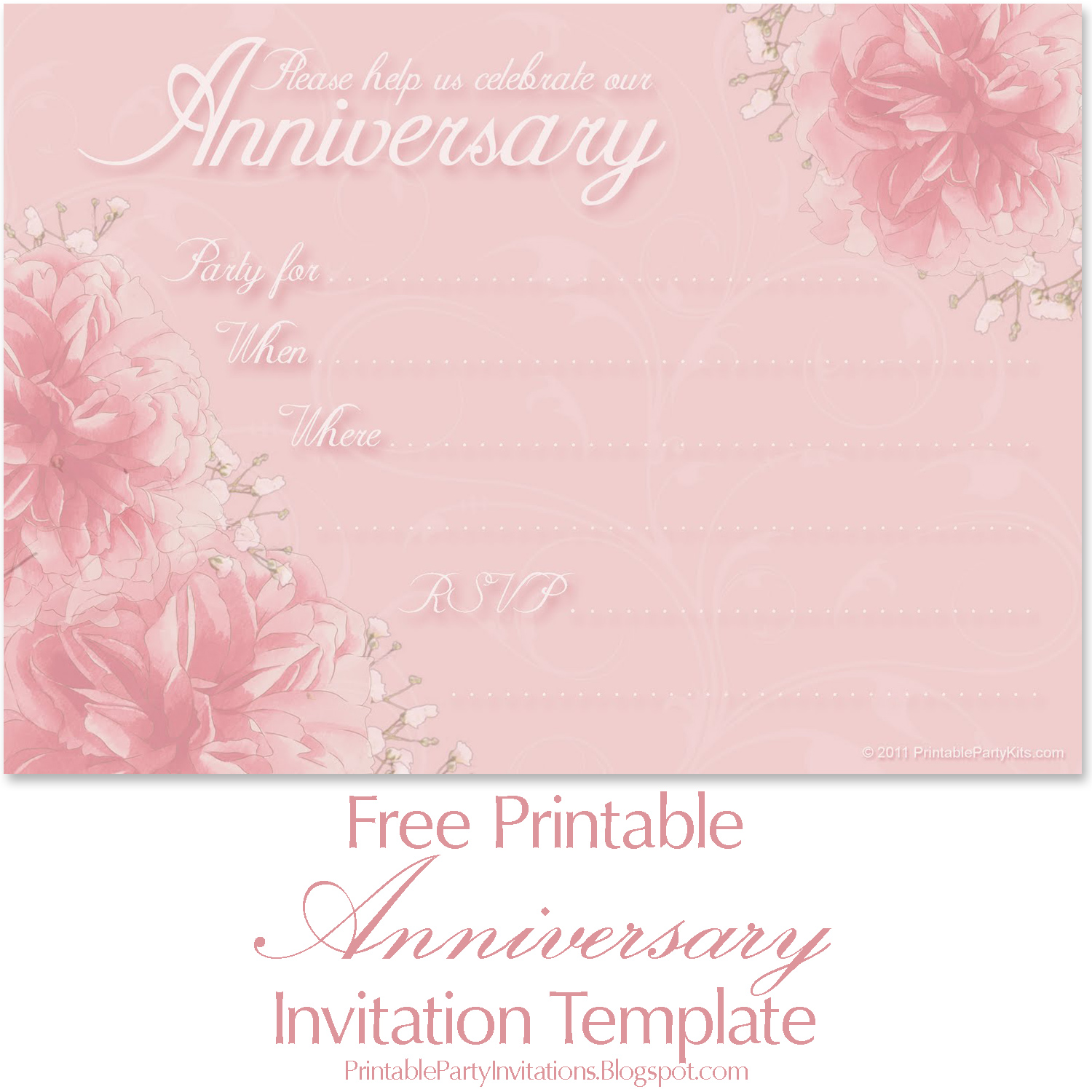 It's just an image of Free Printable Anniversary Invitations with regard to invitation template