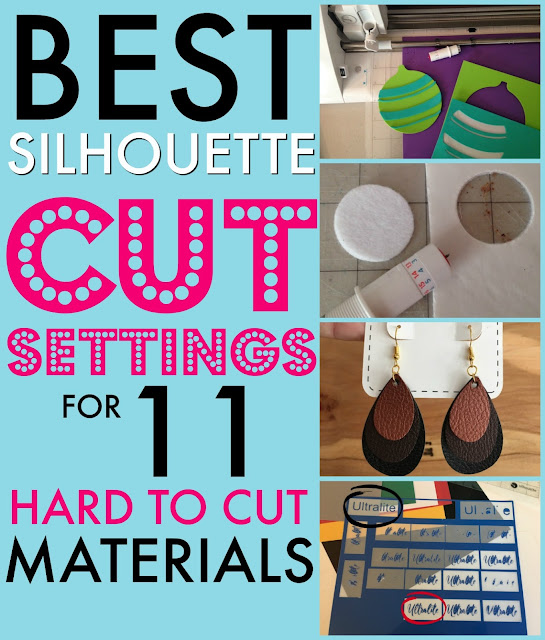 Silhouette Cut Settings, Silhouette Cameo Cut Settings, Silhouette Vinyl Cut Settings, Silhouette Cameo Cut Settings for Glitter Vinyl, Silhouette Cameo Cut Settings for Heat Transfer Vinyl
