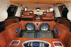 Sistem Audio - Subwoofer Mobil Yang Berkualitas Bagus