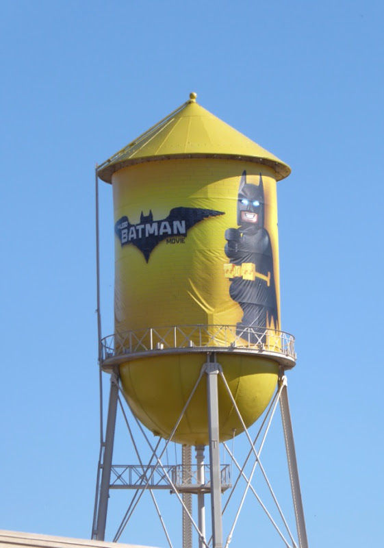 Lego Batman Movie water tower ad WB Studios