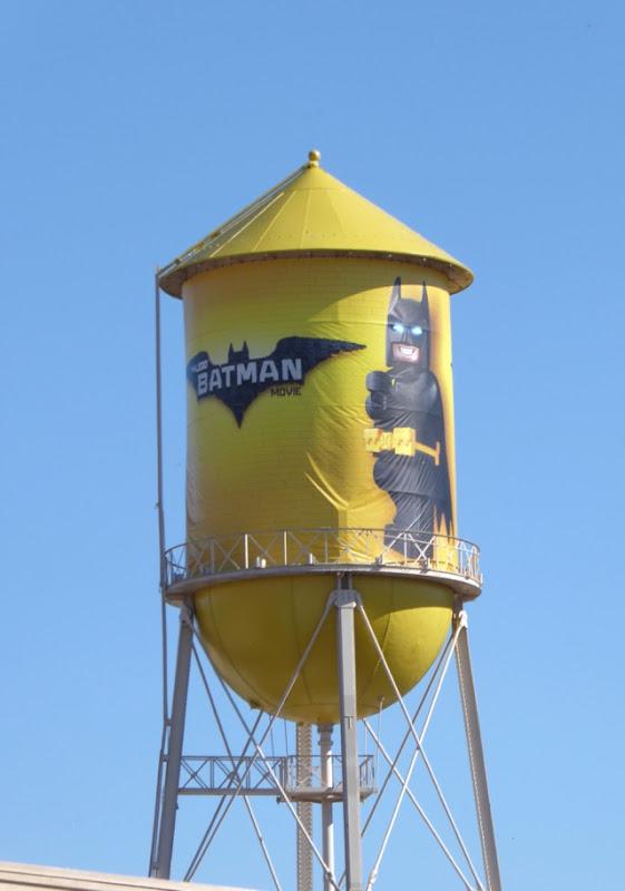Lego Batman Movie water tower ad WB Studios