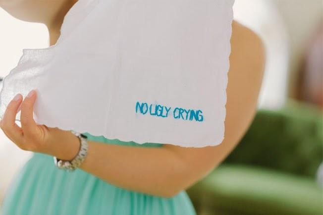 21 Insanely Fun Wedding Ideas - No Ugly Crying Handkerchief