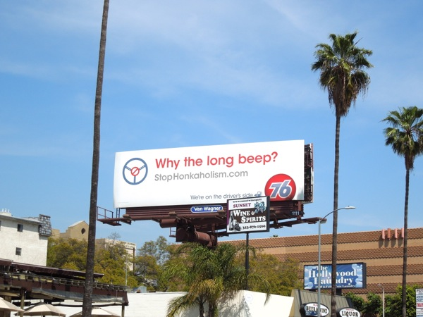 Why the long beep? 76 billboard
