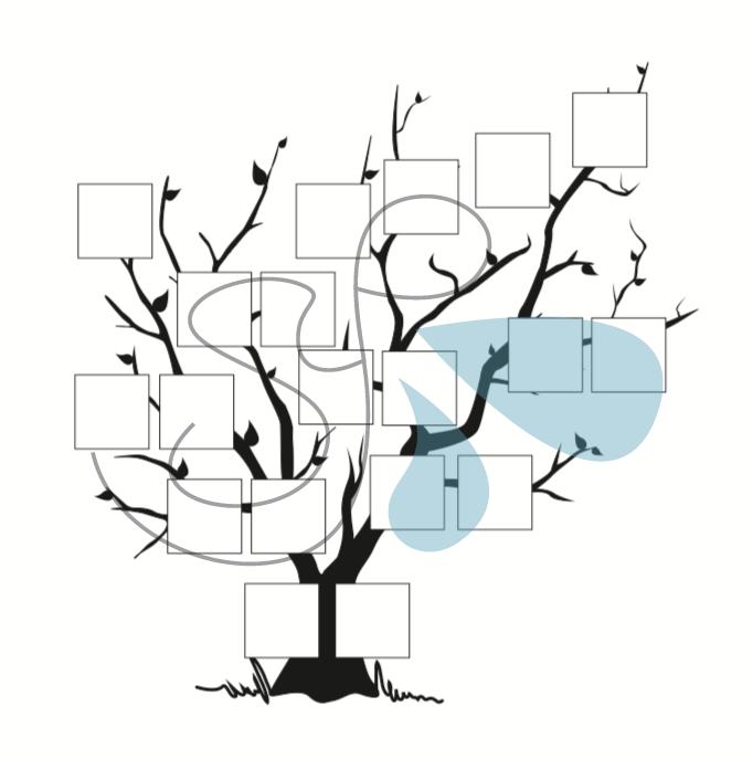 Árbol genealógico personalizado con ilustración