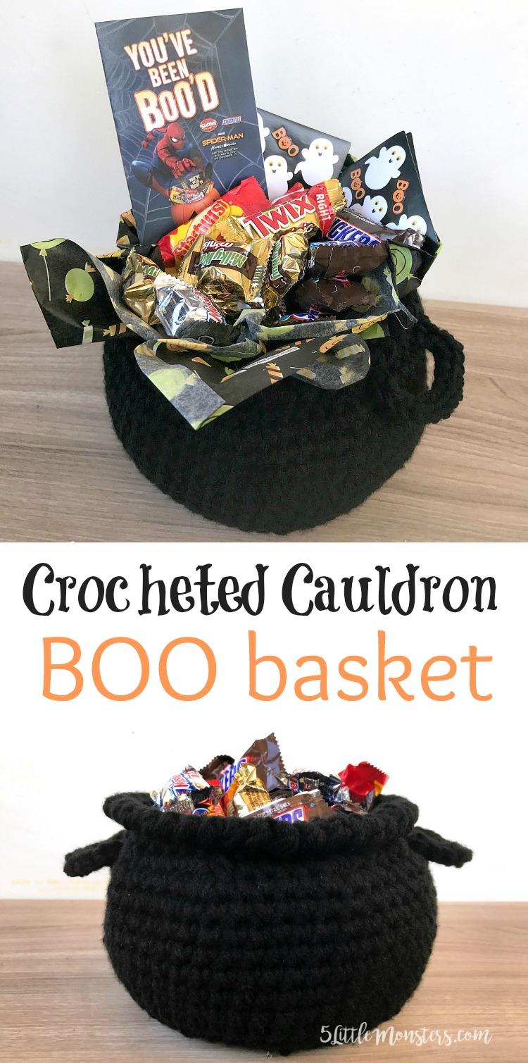 5 Little Monsters Crocheted Cauldron Boo Kit