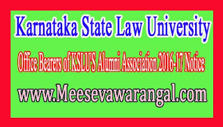 Karnataka State Law University Ph.D Programme 2016-17 Application Notification