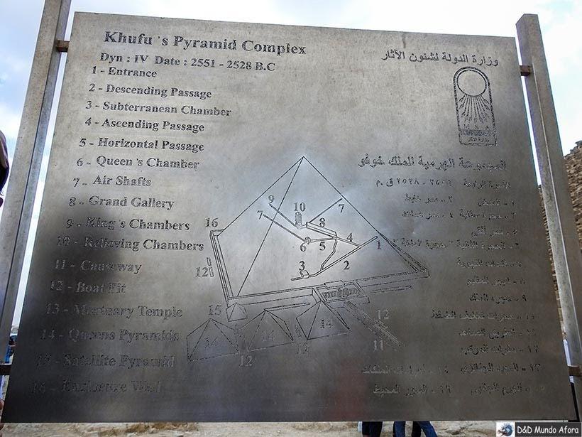 Pirâmide de Quéops no Complexo de Gizé - Pirâmides do Egito
