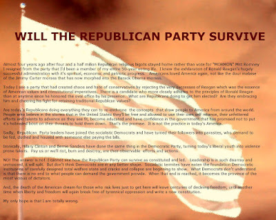WILL THE REPUBLICAN PARTY SURVIVE?