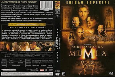 Filme O Retorno Da Múmia (The Mummy Returns) DVD Capa