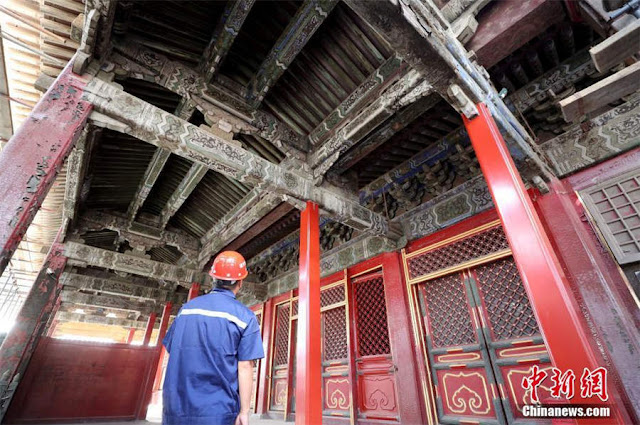 'Hall of Mental Cultivation' in Forbidden City starts official renovation