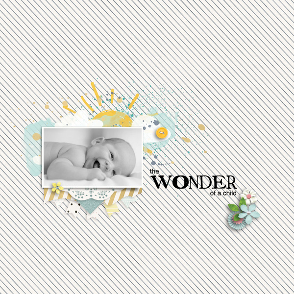 wonder © sylvia • sro 2018 • you are my sunshine by manda lane scraps