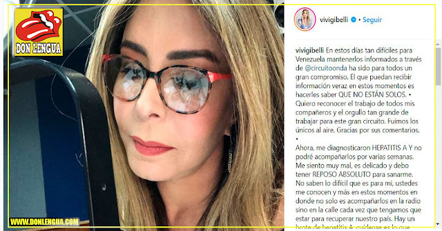Viviana Gibelli se retira de los medios por ser víctima de la Hepatitis A