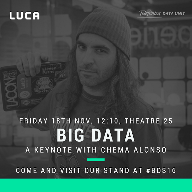 Big Data Spain 2016: Your chance to join the LUCA team?