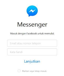 Cara Membuka Facebook Messenger di Komputer/Laptop