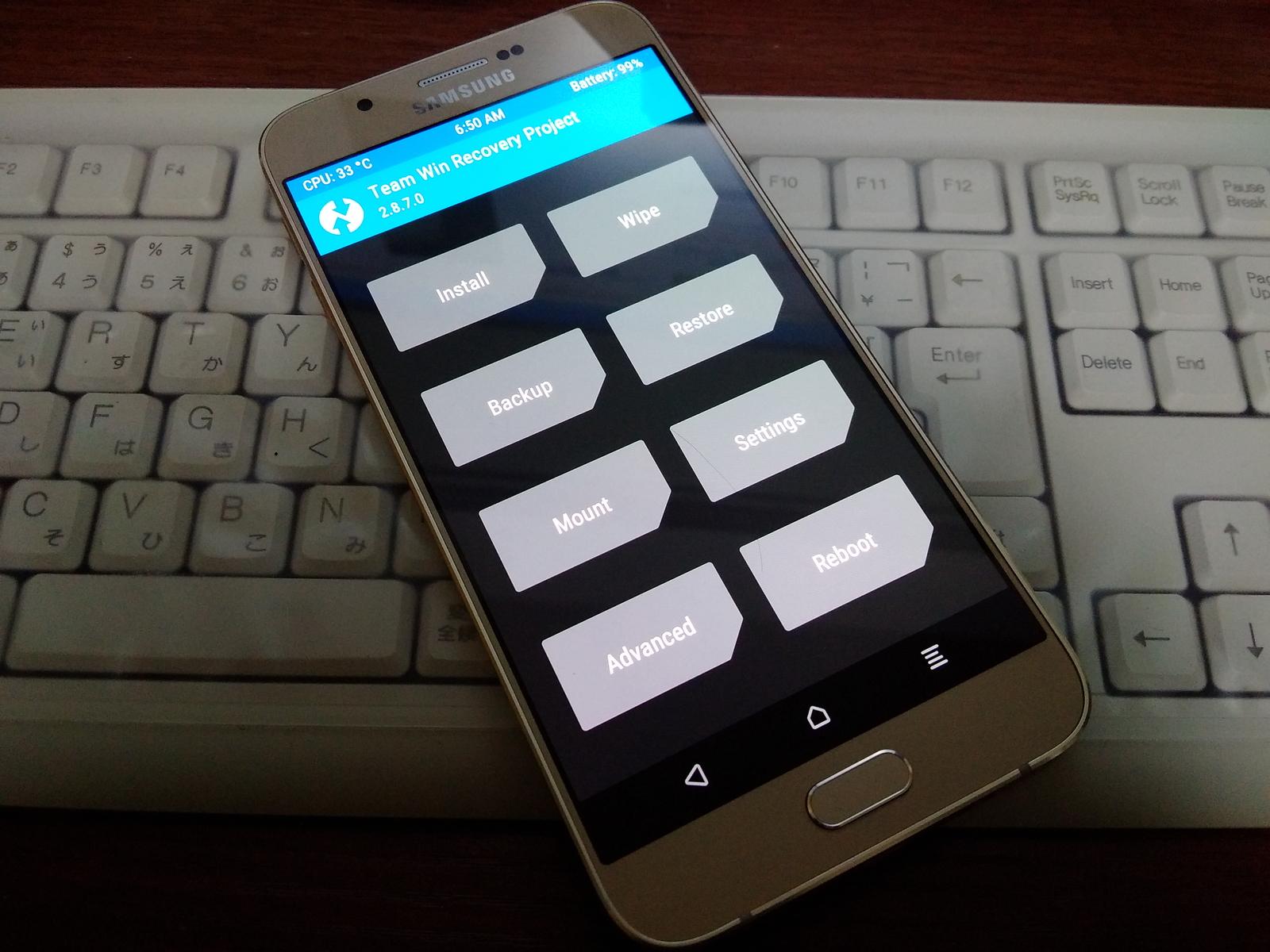 モノクロメカニズム: Galaxy A8 [SM-A800F] にカスタムリカバリ