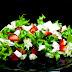 Ensalada de escarola, fresas y queso de cabra...