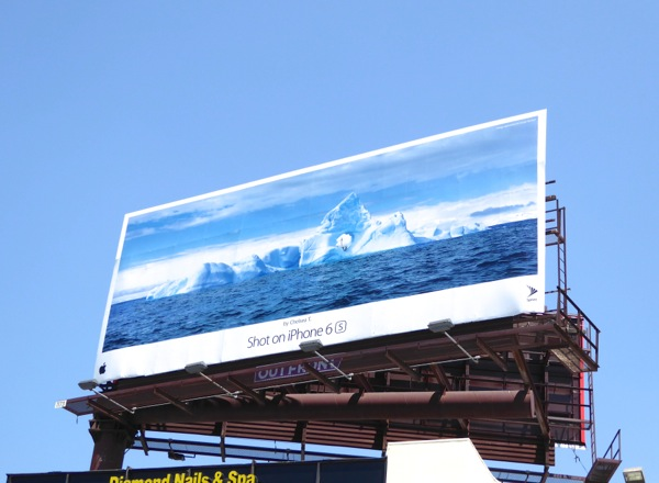 Shot on iPhone 6s Chelsea T iceberg billboard