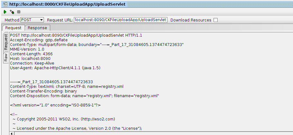 Charitha Kankanamge's blog: Working with HTTP multipart
