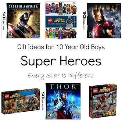 Super hero gift ideas for 10 year old boys.
