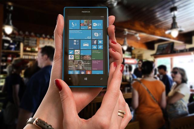 Nokia Lumia Microsoft Woman Bar Phone Smartphone