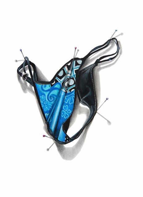 Ce dessin représente le string proposé par Serpil