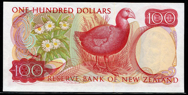 money New Zealand currency 100 Dollars
