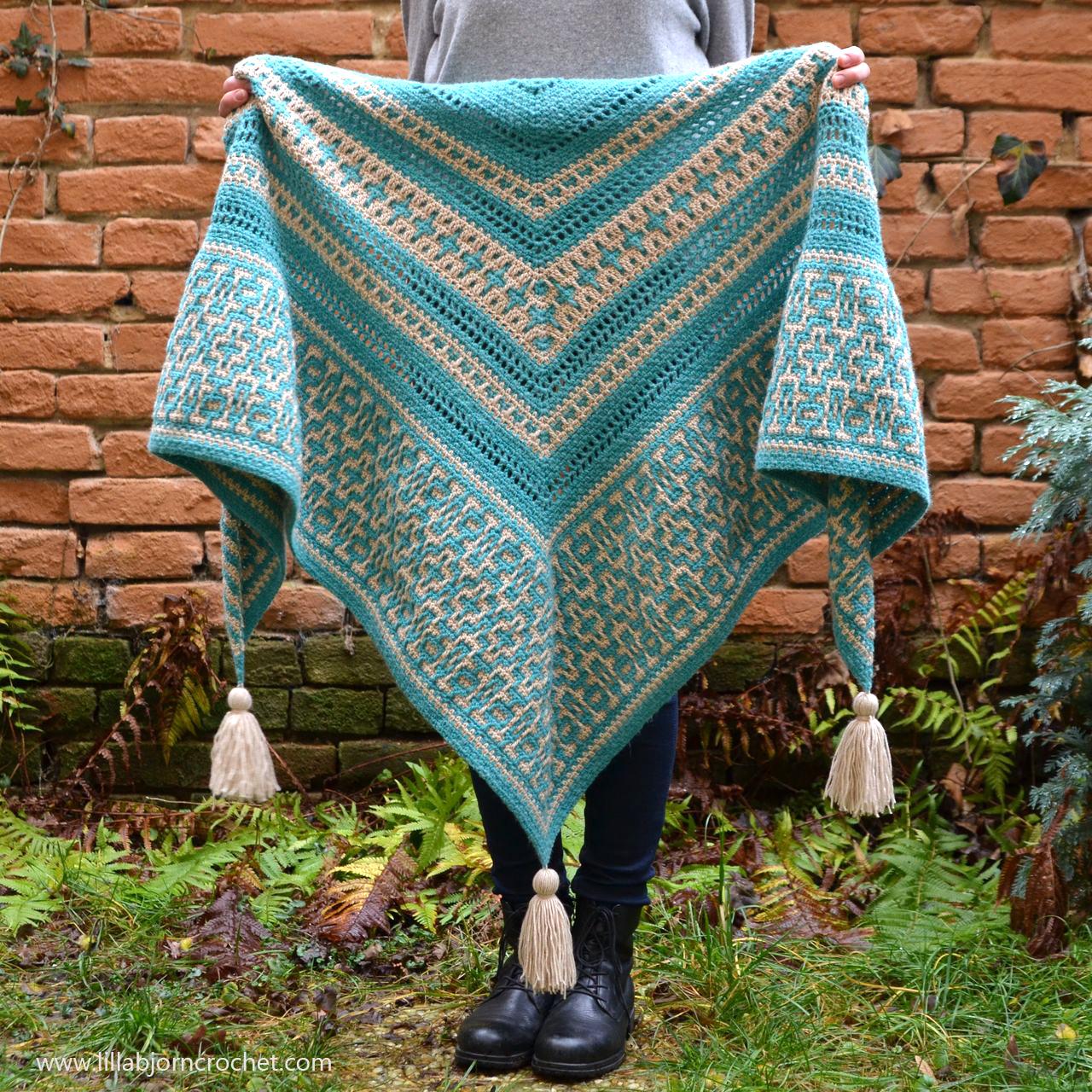 New Pattern: Amaya Mosaic Shawl | LillaBjrn's Crochet World