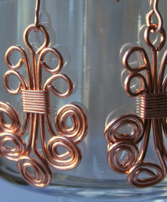 Anna (gracious): copper earrings :: All Pretty Things