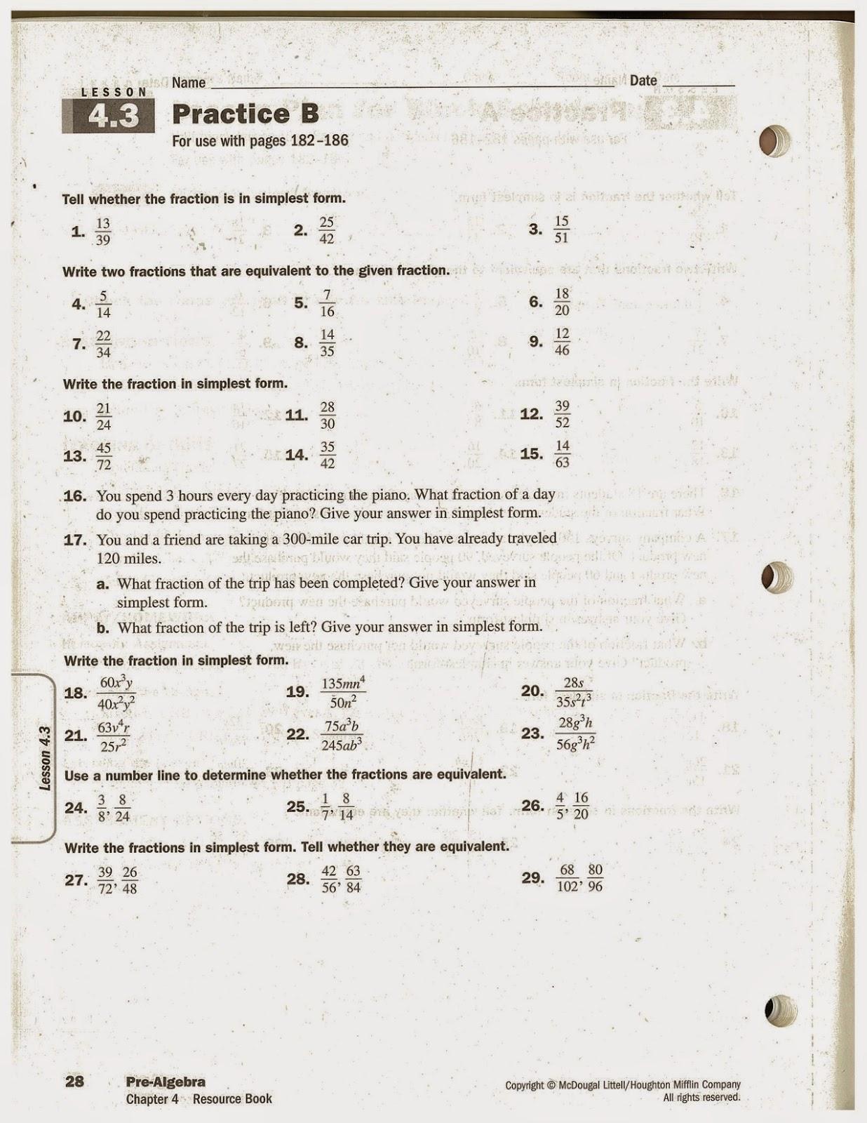 Heidemann 8th Grade Math 5th Period Pre Algebra 11 25
