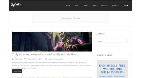 Spirits Blogger Template