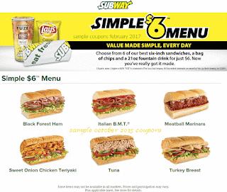 Subway coupons february