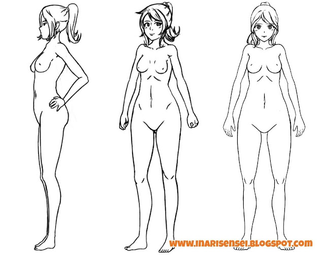 Dessiner un corps manga: un corps organique terminé