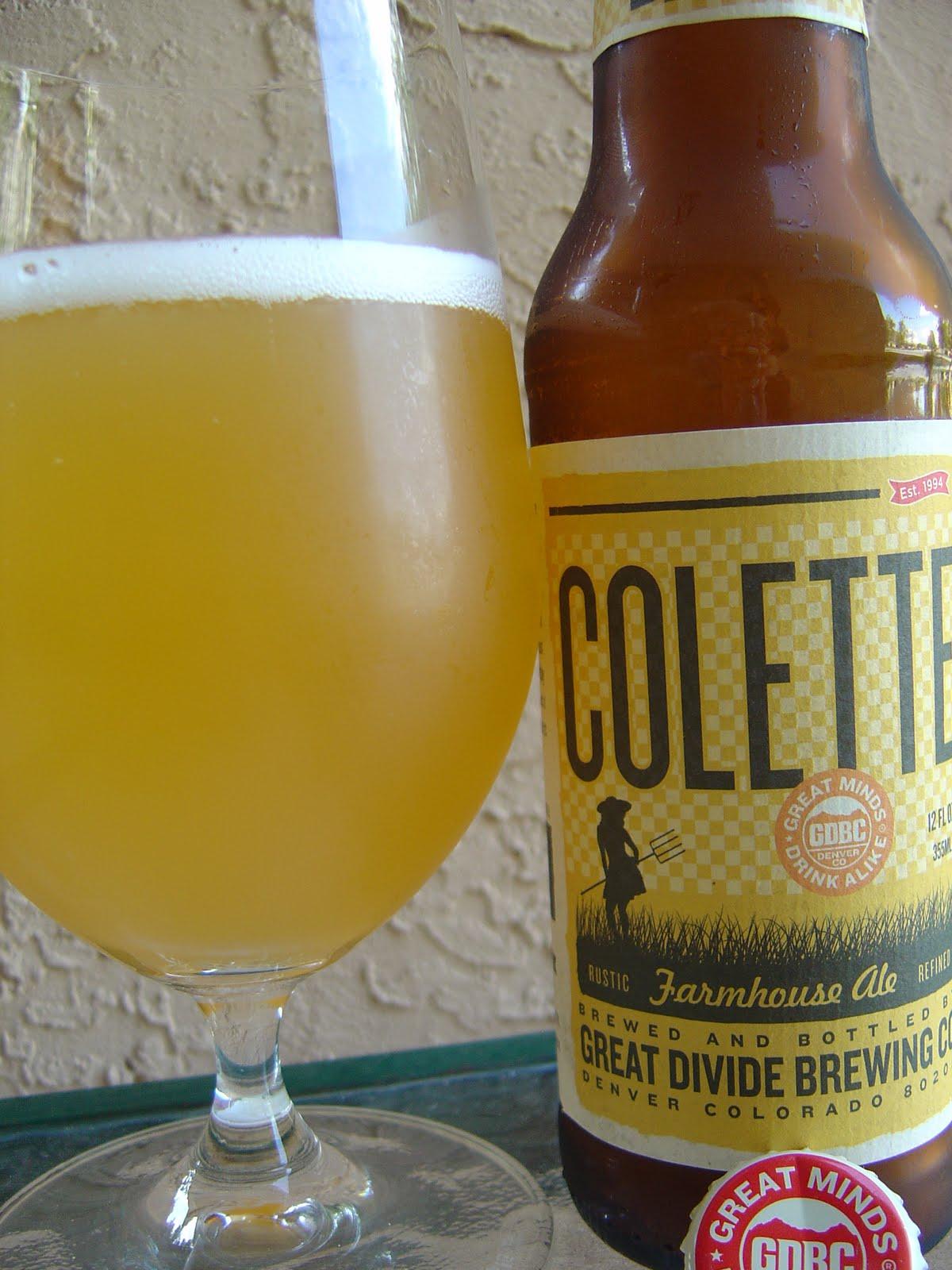 cd0d10af10 Colette Farmhouse Ale. Today I m drinking Colette Farmhouse Ale brewed by Great  Divide Brewing Company ...