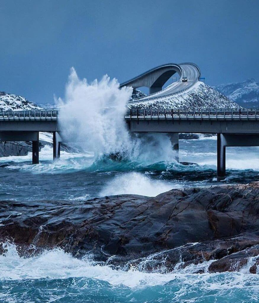 The 15 Most Hazardous Roads In The World - Atlantic Ocean Road, Norway