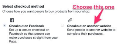 Select Checkout on another site