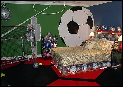 Sports theme bedroom decorating ideas