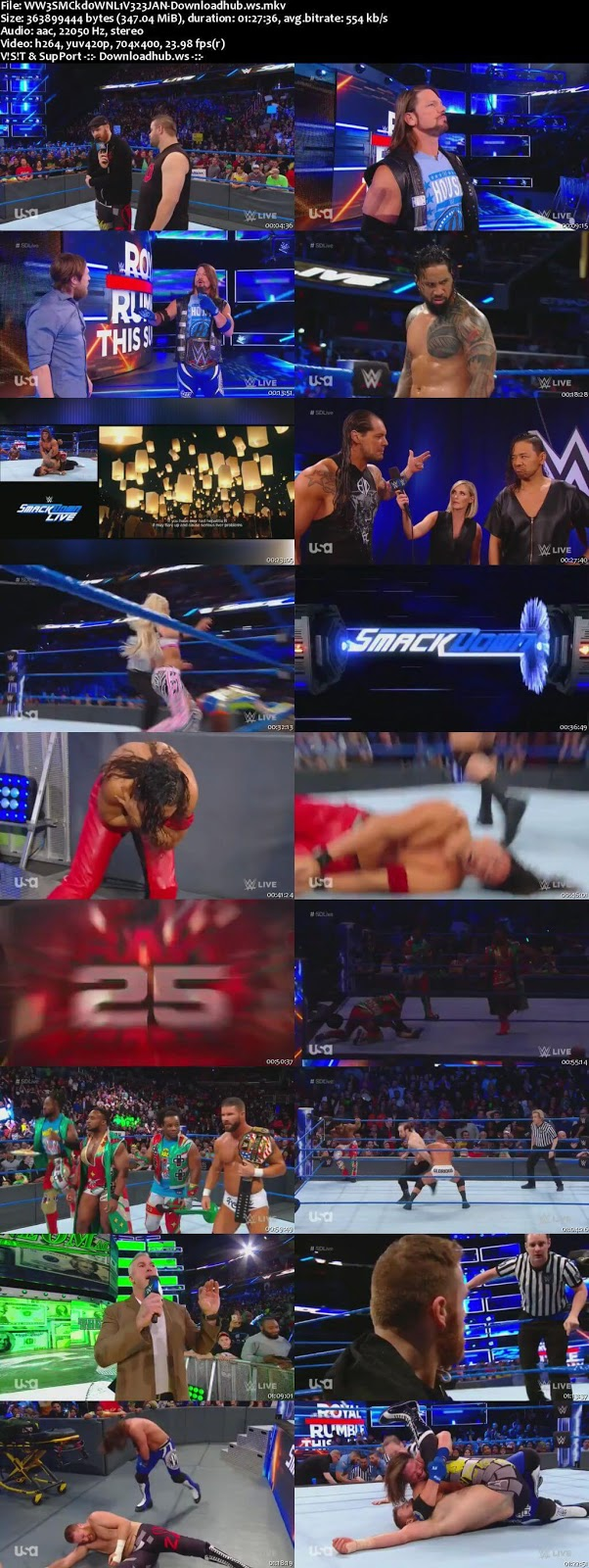 WWE Smackdown Live 23 January 2018 480p HDTV Download