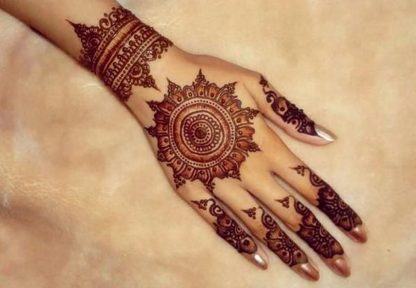 Mehndi Art Simple : Beautiful pakistani eid mehndi new style designs and