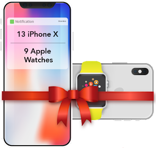 BIGGEST Giveaway of 2017 - WIn 13 iPhone X and 9 Apple Watches
